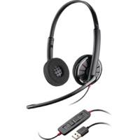 Plantronics C320 UC Bin MOC Black Wire Headset Black 85619-02