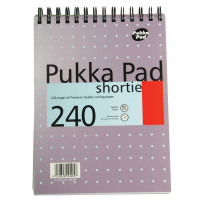 Pukka Shortie A5 Notebook Feint Ruled and Margin 240 Pages (Pack of 3) SM024