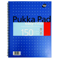 Pukka Easy-Riter A4 Notebook Wirebound 4 Hole Punched Feint Ruled With Margin 150 Pages ERM009