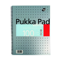 Pukka Editor A4 Notebook Wirebound Feint Ruled With Margin 100 Pages (Pack of 3) EM003