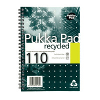 Pukka Recycled Wirebound A5 Notebook Feint Ruled 110 Pages (Pack of 3) RCA5110