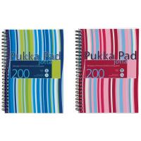 Pukka Jotta Wirebound A5 Notebook Polypropylene Feint Ruled 200 Pages (Pack of 3) JP021