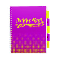 Pukka Halftone A4 Project Book Assorted 8196-HLT