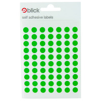 Blick Green Coloured Labels in Bags Round 8mm (Pack of 20) RS002659