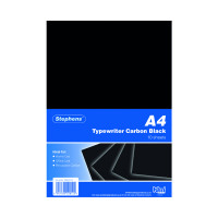 Stephens Black Typewriter Carbon A4 Paper (Pack of 100) RS520153