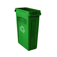 Rubbermaid Slim Jim Green Venting Channel Container 87 Litre 3540-07-GRN