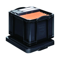 Really Useful Black 35L Recycled Plastic Storage Box 35Black R