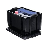 Really Useful 84L Recycled Plastic Storage Box Black 84Black R