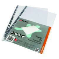 Rexel Nyrex A4 Top and Side Opening Presentation Pockets 13682