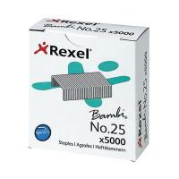Rexel No.25 4mm Staples 10 Sheet Capacity (Pack of 5000) 05025