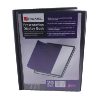 Rexel Presentation A4 Display Book Black 20 Pocket 12710BK