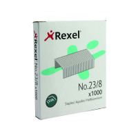 Rexel No.23 8mm Heavy Duty Stapler and Tacker Staples (Pack of 1000) 2101054