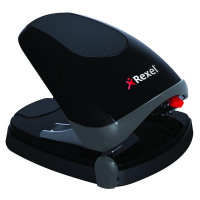Rexel Easy Touch Hole Punch 30 Sheet Capacity Black and Grey 2102575
