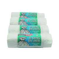 Safewrap Standard White Swing Bin Liners (Pack of 80) 0441