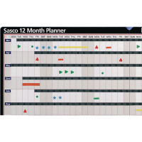 Sasco 12 Month Planner Unmounted 12MPU 20007
