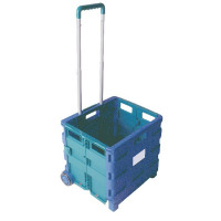 Folding Container Trolley Blue /Green 356684