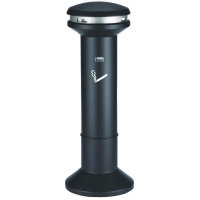 Silver and Black High Capacity Smoking Ash Stand 370785