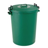 Light Duty Dustbin With Lid 110 Litre Green 382068