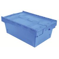 VFM Blue Eurobox With Lid 39 Litre Capacity 382593