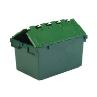 VFM Green Plastic Picking Container With Lid 374370