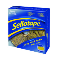 125 x Sellotape Sticky Hook Spots (Permanent, self-adhesive loop spots) 1445185