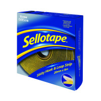Sellotape Sticky Hook and Loop Strip 6m (Permanent, self-adhesive hook and loop strip) 1445180