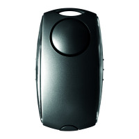 Securikey Personal Alarm Black /Silver (Activate by pushing the sides, 120dB siren) PAECABlack