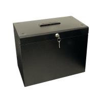 Cathedral A4 Metal File Box Black A4Black