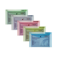 Snopake Foolscap Assorted Polyfile Classic Wallet (Pack of 5) 10087