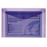 Snopake Polyfile Electra Foolscap Plus Purple (Pack of 5) 11162