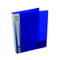 Snopake Polypropylene 2 A4 Ring 25mm Electra Blue Ring Binder (Pack of 10) 10159