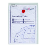 Snopake Clear Polyfile P File Wallet A6 Portrait (Pack of 5) 13293