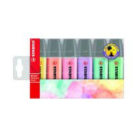 Stabilo Boss Original Highlighters Assorted Pastel Colours (Pack of 6) 70/4-2