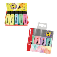 STABILO BOSS Original Highlighter Assorted (Pack of 10) with Free Pastel Highlighters SS811656
