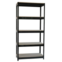 Storage Solutions Heavy Duty Boltless 5-Shelf Unit Black STS834550