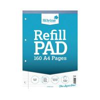 Silvine Narrow Ruled Headbound Refill Pad A4 (Pack of 6) A4RPNM