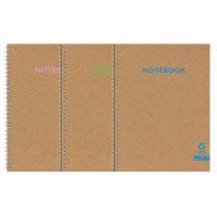 Silvine Premium Recycled Kraft Twin Wire A4 Notebook 80 Pages KRTWA4AC