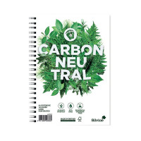 Silvine Carbon Neutral A5 Twin Wire Notebook 120 Pages Ruled (Pack of 5) R303