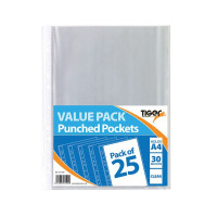 375 x A4 Punched Pockets 30 Micron (Excellent protection from spills or accidents) 301599