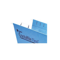Rexel Crystalfile Flexi Tab Inserts White (Pack of 50) 3000058