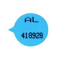 GoSecure Numbered Round Seal Blue (Pack of 500) S3B
