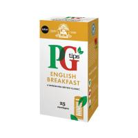 PG Tips English Breakfast Envelope Tea Bags (Pack of 25) 29013801