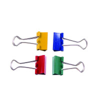 Foldback Clip 19mm Assorted (Pack of 10) 22491