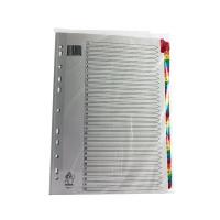 Multicoloured A4 1-31 Mylar Index WX01522
