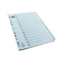 A4 White A-Z Mylar Index WX01532