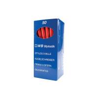 Red Medium Ballpoint Pens (Pack of 50) 893616