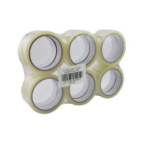 12 x Clear Sticky Tape 24mmx66m (Easy tear formula with strong self-adhesive backing) WX27017