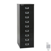 Bisley Grey 9 Drawer Non-Locking Multi-Drawer Cabinet BY16447