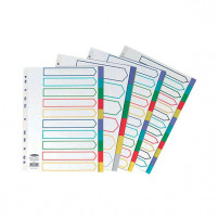 Concord Polypropylene A4 Divider 10 Part Multicoloured 06901