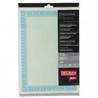 Decadry A4 Helicoid Turquoise/Blue B Certificate Paper 115gsm (Pack of 25) OSD4052